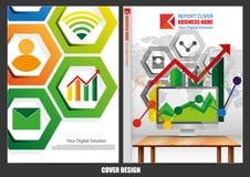 Progettazione della copertura del modello di affari illustrazione vettoriale