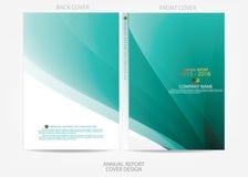 Progettazione della copertura del rapporto annuale Immagini Stock