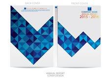 Progettazione della copertura del rapporto annuale Fotografie Stock Libere da Diritti