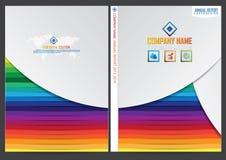 Progettazione della copertura del rapporto annuale illustrazione vettoriale