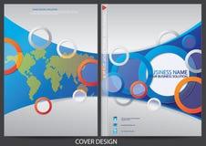Progettazione della copertura del rapporto annuale Immagine Stock