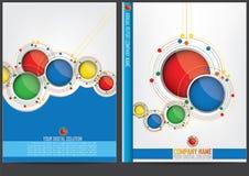Progettazione della copertura del rapporto annuale illustrazione di stock