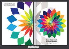 Progettazione della copertura del rapporto annuale di affari illustrazione di stock