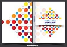 Progettazione della copertura del rapporto annuale di affari illustrazione vettoriale