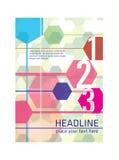 Progettazione della copertura dell'opuscolo fotografie stock