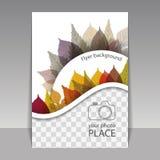 Progettazione della copertura o dell'aletta di filatoio con il posto per la vostra foto - Autumn Leaves Immagini Stock