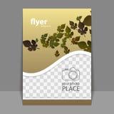 Progettazione della copertura o dell'aletta di filatoio con il posto per la vostra foto - Autumn Leaves Immagini Stock Libere da Diritti