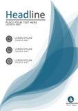 Progettazione della copertura A4 per i libri, le pubblicazioni ed i rapporti Vettore Immagini Stock