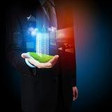 Disegno della costruzione di automatizzazione di ingegneria Immagine Stock