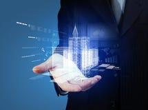 Disegno della costruzione di automatizzazione di ingegneria Immagini Stock Libere da Diritti