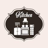 Progettazione della cucina Immagini Stock