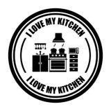 Progettazione della cucina Fotografia Stock Libera da Diritti