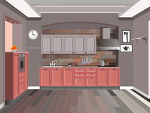 Progettazione della cucina fotografie stock libere da diritti