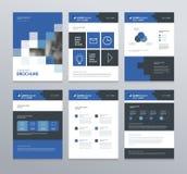 Progettazione della disposizione del modello con la copertina per il profilo aziendale, rapporto annuale, opuscoli, alette di fil Immagini Stock