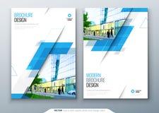 Progettazione della disposizione del modello dell'opuscolo Rapporto annuale di affari corporativi, catalogo, rivista, modello del illustrazione di stock