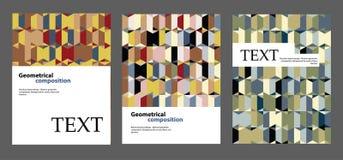 Progettazione della disposizione dell'opuscolo Ambiti di provenienza per le coperture, alette di filatoio, insegne illustrazione vettoriale