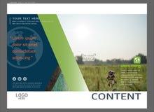 Progettazione della disposizione di presentazione per il modello della copertina della pianta, fondo moderno di vettore astratto illustrazione di stock