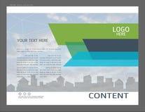 Progettazione della disposizione di presentazione per il modello della copertina di affari illustrazione vettoriale