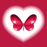 Progettazione della farfalla del cuore Fotografie Stock Libere da Diritti