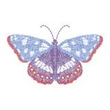 Progettazione della farfalla per abbigliamento vettore di insetto del ricamo Fotografie Stock