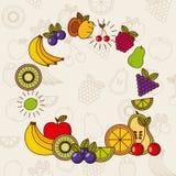 progettazione della frutta tropicale Fotografia Stock