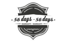 progettazione della garanzia da 56 giorni, migliore bollo nero illustrazione vettoriale
