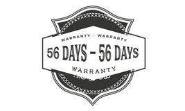 progettazione della garanzia da 56 giorni, migliore bollo nero illustrazione di stock