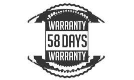 progettazione della garanzia da 58 giorni, migliore bollo nero illustrazione di stock