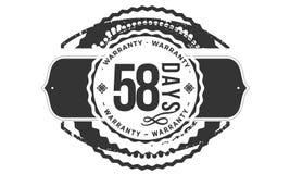 progettazione della garanzia da 58 giorni, migliore bollo nero illustrazione vettoriale
