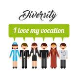 Progettazione della gente di diversità Fotografia Stock