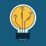 Progettazione della lampada di tecnologia Immagini Stock Libere da Diritti