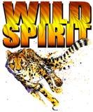 Progettazione della maglietta Acquerello del ghepardo illustrazione vettoriale