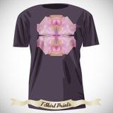 Progettazione della maglietta con l'illustrazione astratta variopinta con il triangolo Immagini Stock Libere da Diritti