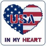 Progettazione della maglietta degli S.U.A. Immagine Stock Libera da Diritti