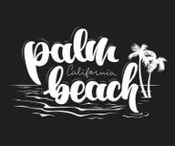 Progettazione della maglietta di California del Palm Beach Fotografia Stock Libera da Diritti