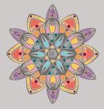 Progettazione della mandala di coloritura Fotografie Stock Libere da Diritti