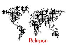 Progettazione della mappa di mondo del modello dell'incrocio della croce royalty illustrazione gratis