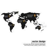 Progettazione della mappa di mondo di vettore Fotografie Stock