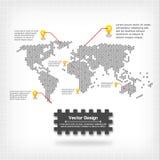 Progettazione della mappa di mondo di vettore Fotografia Stock Libera da Diritti