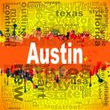 Progettazione della nuvola di parola di Austin Fotografia Stock