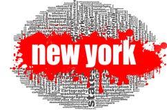 Progettazione della nuvola di parola di New York Fotografia Stock