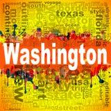 Progettazione della nuvola di parola di Washington Immagine Stock