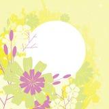 Progettazione della pagina con i fiori Fotografia Stock