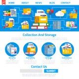 Progettazione della pagina dell'archivio illustrazione di stock