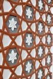 Progettazione della parete dentro la moschea Fotografia Stock
