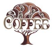 Progettazione della pianta del caffè Fotografie Stock Libere da Diritti
