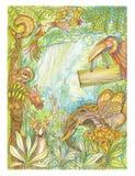 Progettazione della pittura di immaginazione della fauna selvatica Fotografia Stock Libera da Diritti