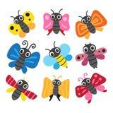 Progettazione della raccolta del carattere della farfalla royalty illustrazione gratis