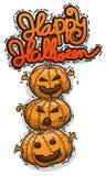 Progettazione della raccolta del partito di Halloween facile pubblicare illustrati di vettore Fotografia Stock Libera da Diritti