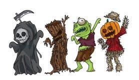 Progettazione della raccolta del partito di Halloween facile pubblicare illustrati di vettore Fotografie Stock Libere da Diritti